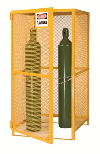 Little Giant GSU-36W-70H 13-Gauge Steel Upright Gas Cylinder Storage Unit, 5 to 15 Cylinders Capacity, 36