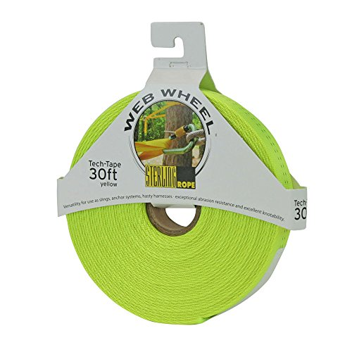 STERLING ROPE Tech Tape Web Wheel 30' Yellow One Size