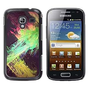 For Samsung Galaxy Ace 2 I8160 / Ace2 II XS7560M Case , Green Pink Yellow Black Spots - Diseño Patrón Teléfono Caso Cubierta Case Bumper Duro Protección Case Cover Funda