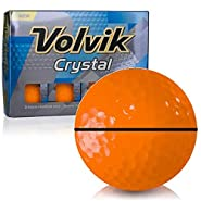 Volvik Crystal Sherbet Orange AlignXL Personalized Golf Balls