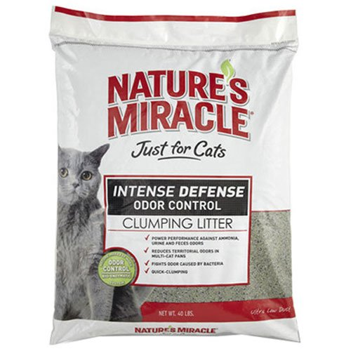 Nature's Miracle Intense Defense Clumping Litter, 40-Pound (P-5368)
