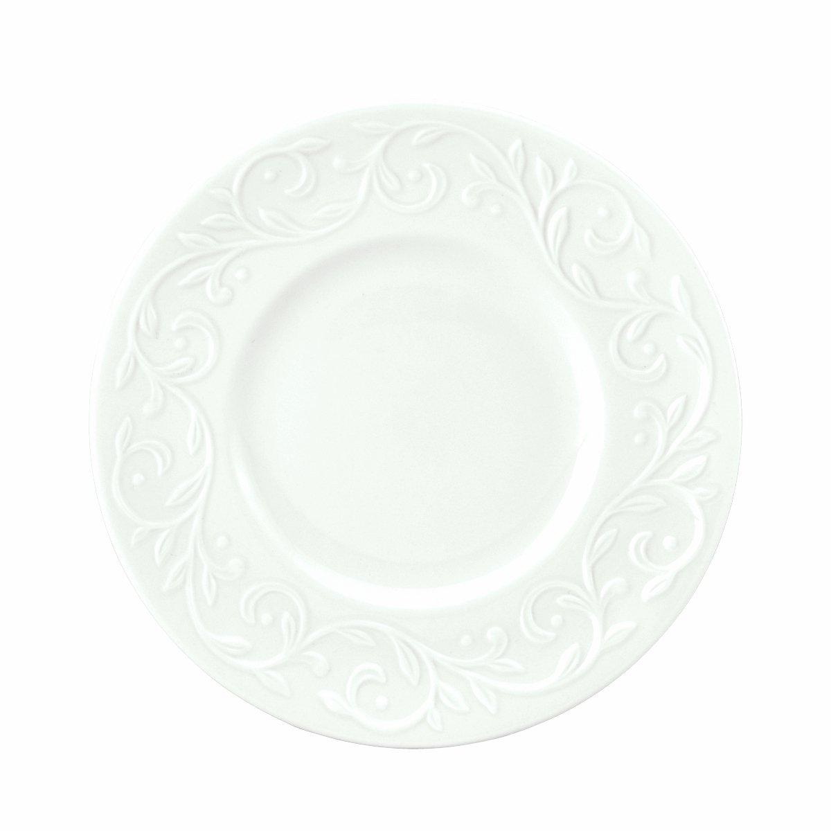 Lenox Opal Innocence Carved 7-1/4-Inch Dessert Plates, Set of 4