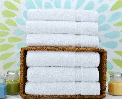 Linum Home Textiles Luxury Hotel Collection 100% Turkish Cotton Terry Hand Towels (Set of 6)