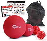 sFera Deep Tissue: Massage Ball Set of 4 for Trigger Point Therapy, Myofascial Release   Includes: Small and Large Firm Foam Roller Balls, 2 Spiky Balls, Mesh Bag, Manual