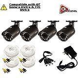 Q-See 4MP HD Bullet Camera 4-Pack: 2688x1520, 3.6mm Lens, 36 IR LEDs, IR up to 100ft, AGC, IP66 - QTH8071B