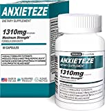 ANXIETEZE™ -Ease Stress & Anxiety- 60ct Capsules – MAXIMUM STRENGTH FORMULA (1-60ct Box) Promotes Calm & Recuperative Sleep at Night w/ Controlled Focus and Positive Mood Enhancement During the Day For Sale