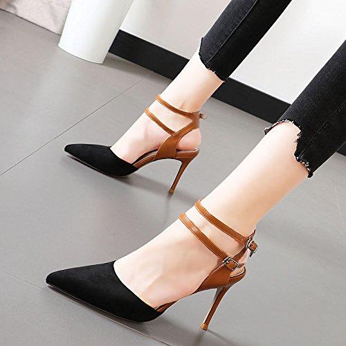 Xue Qiqi Pendler Tipp's High Heels Frauen ausgesetzt Butt für dünne geschlitzte und Licht mit Sandalen