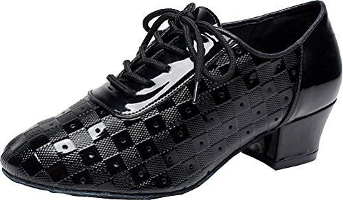 Comfort Athletics Latin Nero Ballo Cfp Block Da Jj cha Tango Pu Cha Womens Practice Scarpe Heel 6223 Rumba CfwgwRq