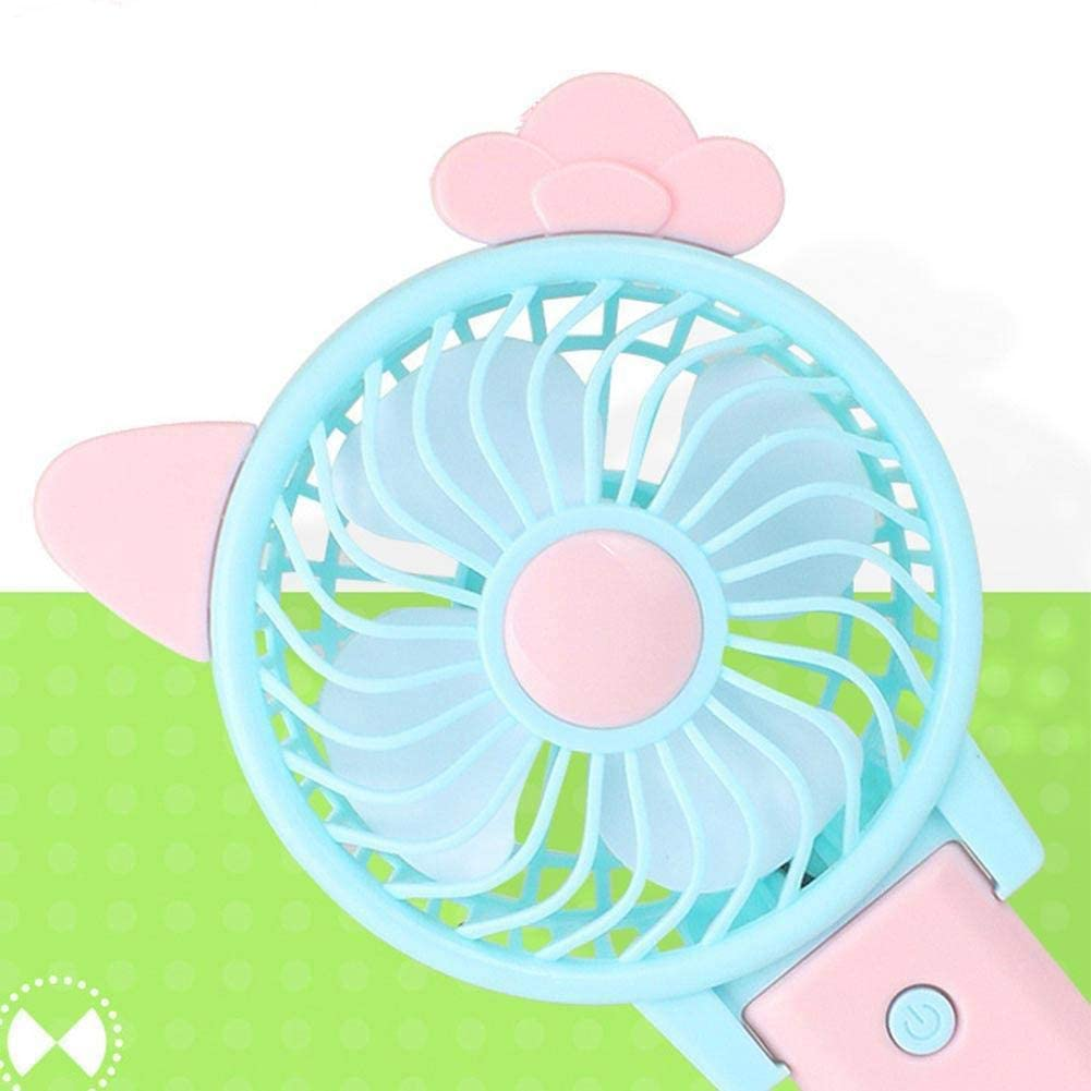 Q8-Rabbit Binglinghua Korea Cute Portable Handheld Fold Fan Mini Handy USB Fan