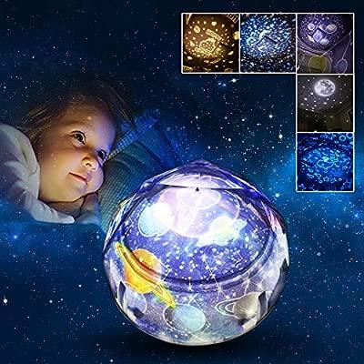 Joy-Jam Regalos para Niños 3-10 Años Proyector Bebe Luz de Noche Estrella para Niños Lampara Nocturna Proyector LED Decoracion Regalos de Cumpleanos ...