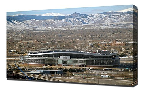 Lilarama USA Denver Broncos Invesco Field Stadium 3 - Canvas Art Print - Wall Art - Canvas Wrap