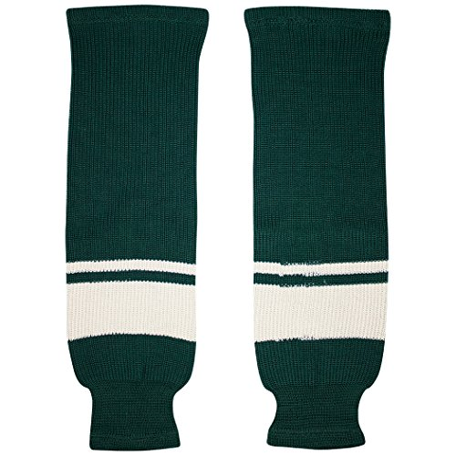TronX Minnesota Knit Hockey Socks (24 Inch - Forest Green)