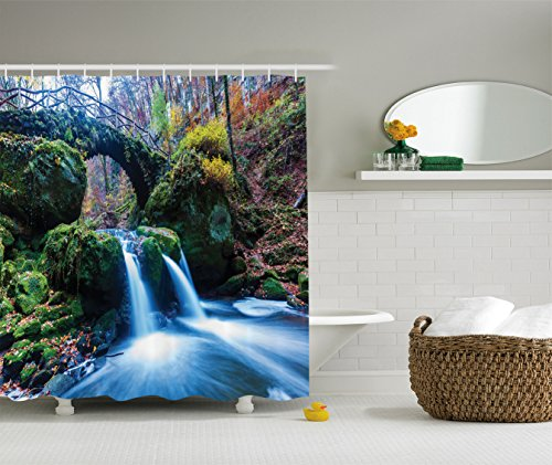 ambesonne-apartment-decor-collection-waterfall-flows-under-an-ancient-stone-bridge-between-mossy-roc