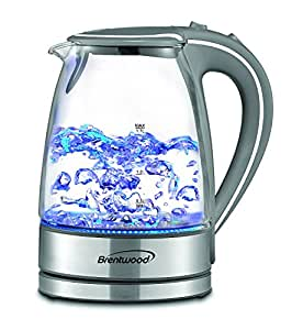 Amazon Com Brentwood Cordless Glass Copper 1 7l Electric