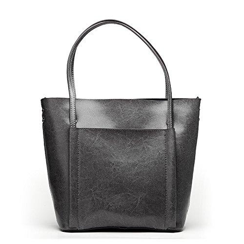 GUANGMING77 Bolsa Bolsa _ Cajas De Resorte Simple Bolso Lady,Claret gray