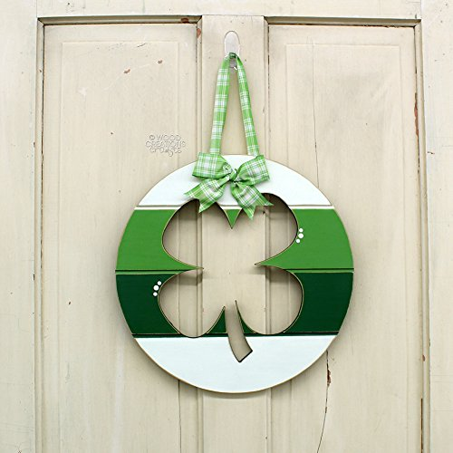 Wood Creations - Clover Slat Circle Hanging - Unfinished Craft Wood - DIY - Craft Project - St. Patricks Day - Home Decor - Shelf Sitter