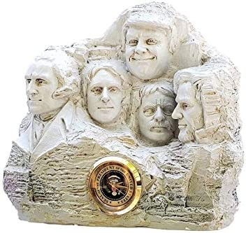 BobbleFingers Donald Trump Gifts Mount Rushmore Clock Gag Gift