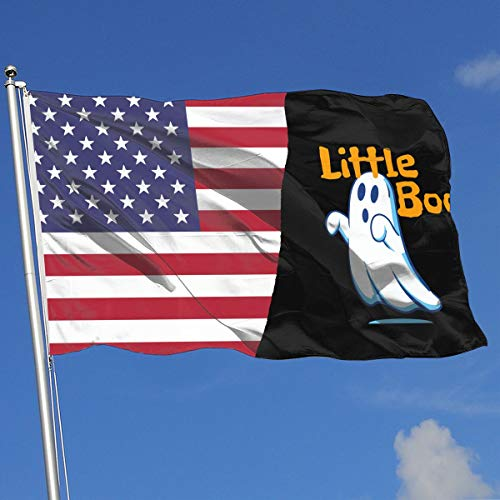 Little Boo Halloween Ghost 100% Polyester Single Layer Translucent Flags, 3 X 5 Welcome Banner