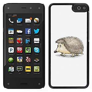 // PHONE CASE GIFT // Duro Estuche protector PC Cáscara Plástico Carcasa Funda Hard Protective Case for Amazon Fire Phone / Cute Friendly Hedgehog /