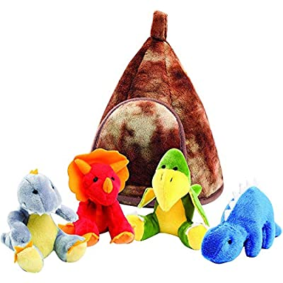 Animal House Animals Sound Toys With Carrier | Plush Baby Gift | Toddler Gift (Dino World): Toys & Games
