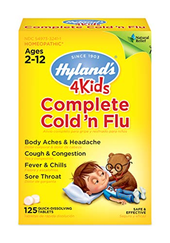 Kids Cold and Flu Relief Tablets by Hyland#039s 4Kids Complete Cold #039n Flu Natural Homeopathic Relief of Cold and Flu 125 Count