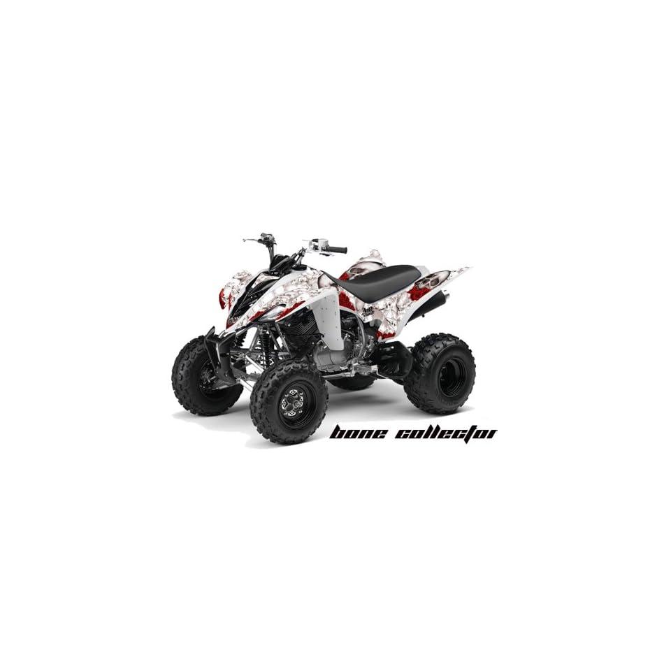 AMR Racing Yamaha Raptor 350 ATV Quad Graphic Kit   Bonecollector White