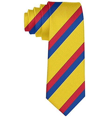 Negocio Colorido Bandera colombiana Corbata Skinny Tie Regalo ...