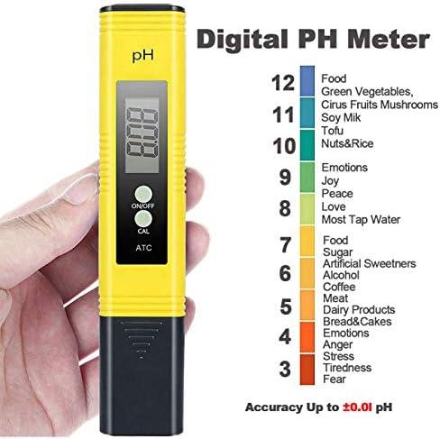 Probador de Medidor PH TDS Tester TDS EC Temperatura PH Medición de Agua Digital para Agua Potable Doméstica 2