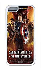 5C Case, iPhone 5C Case Galaxy Pattern Captain America The First Avenger Lovely iPhone 5C Shoockproof White Soft Case Full Body Hybrid Impact Armor Defender Cover protective Case for iPhone 5C