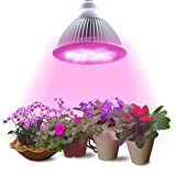 Lumin Tekco Led Grow light Bulb, Indoor High Efficient 12W ,Grow Plant Light for Hydropoics Garden Greenhouse Aquatic (3 Bands) Review