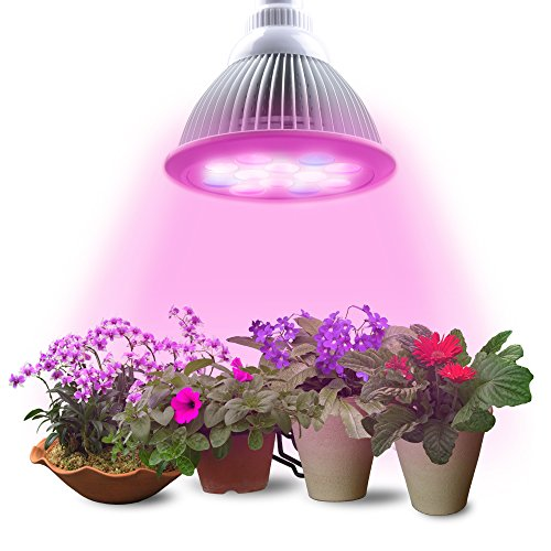 Lumin Tekco Led Grow light Bulb, Indoor High Efficient 12W ,Grow Plant Light for Hydropoics Garden Greenhouse Aquatic (3 Bands)