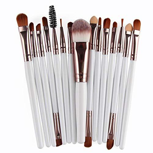Pro 15Pcs Makeup Brushes Set Eye Shadow Foundation Powder Eyeliner Eyelash Lip Make Up Brush Cosmetic Tool Kit,BK