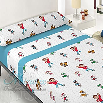 Juego de sábanas pirineo económica similar a patrulla canina para cama de 90. Sábanas de invierno Mizutex: Amazon.es: Hogar