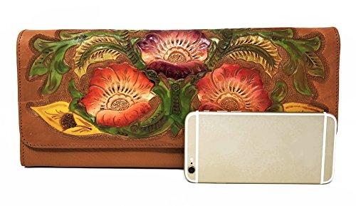 for Gift Vintage Handmade Convertible Maple Leather Women Clutch Florence Artisan Crossbody Floral Designer zndYqv