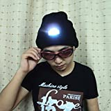 Winter Warm Wool Hat Watch Cap 5LED Beanie Led Light Hat (Including electronic)