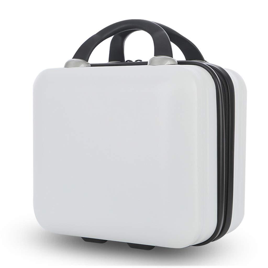 ZHAOSHUHLI スーツケース旅行トロリーケース女性小型軽量小型12インチ搭乗荷物ユニバーサルホイール男性トロリーケース (色 : 白)  白 B07QZJFRGP