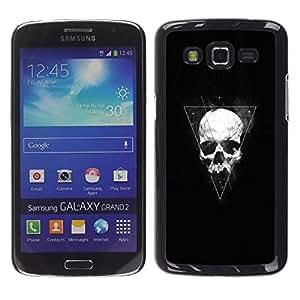 LECELL--Funda protectora / Cubierta / Piel For Samsung Galaxy Grand 2 -- Triángulo Geometría cráneo --