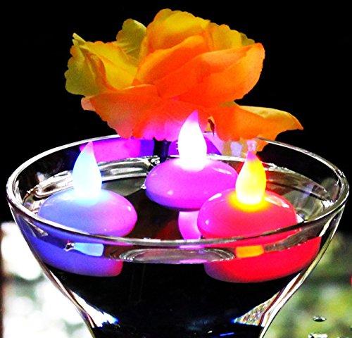 Set of 24 Flameless Floating Candles, AceList® Battery Op...