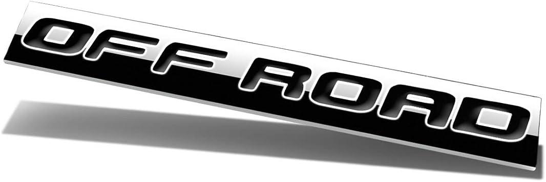 Chrome Finish Metal Emblem Off Road Badge Black Letter Black