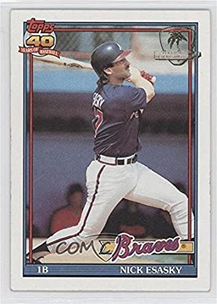 Amazoncom Nick Esasky Baseball Card 1991 Topps Base