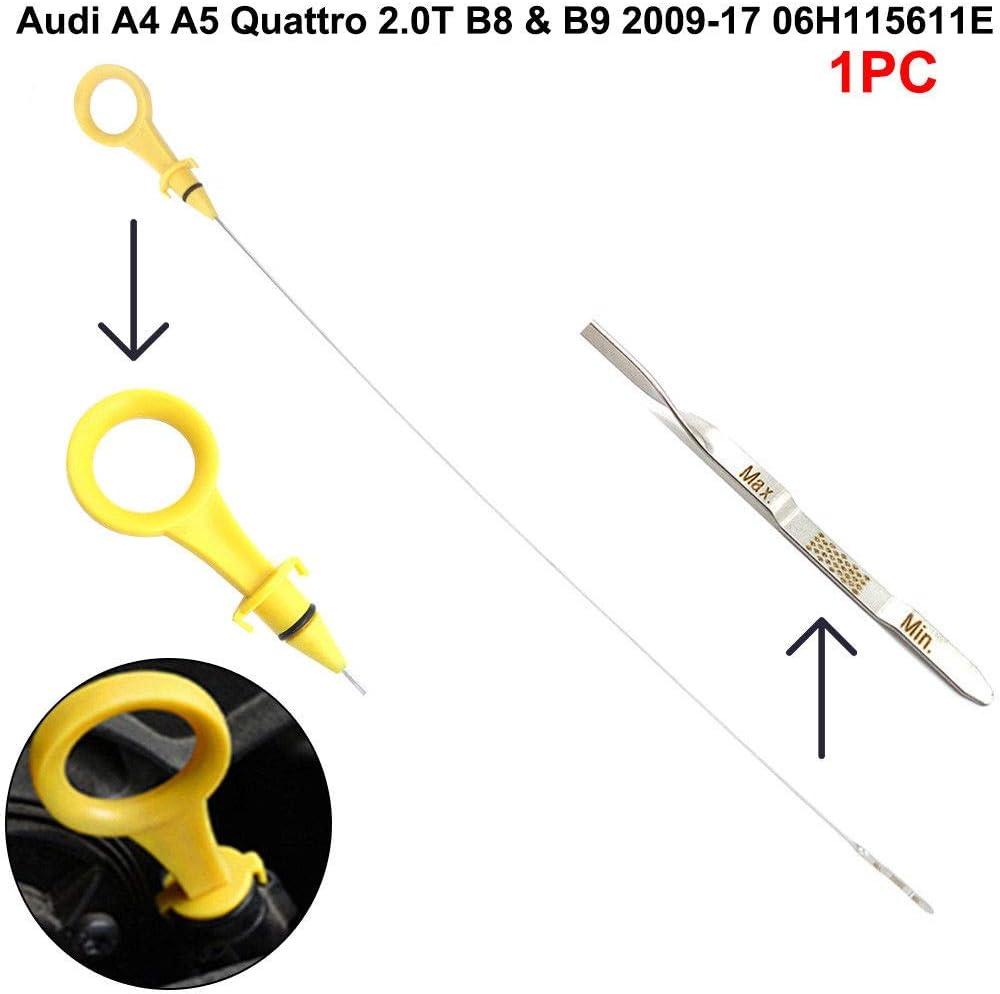 Auto Engine Oil Dipstick For Audi A4 A5 Quattro 2.0T B8 /& B9 2009-17 06H115611E