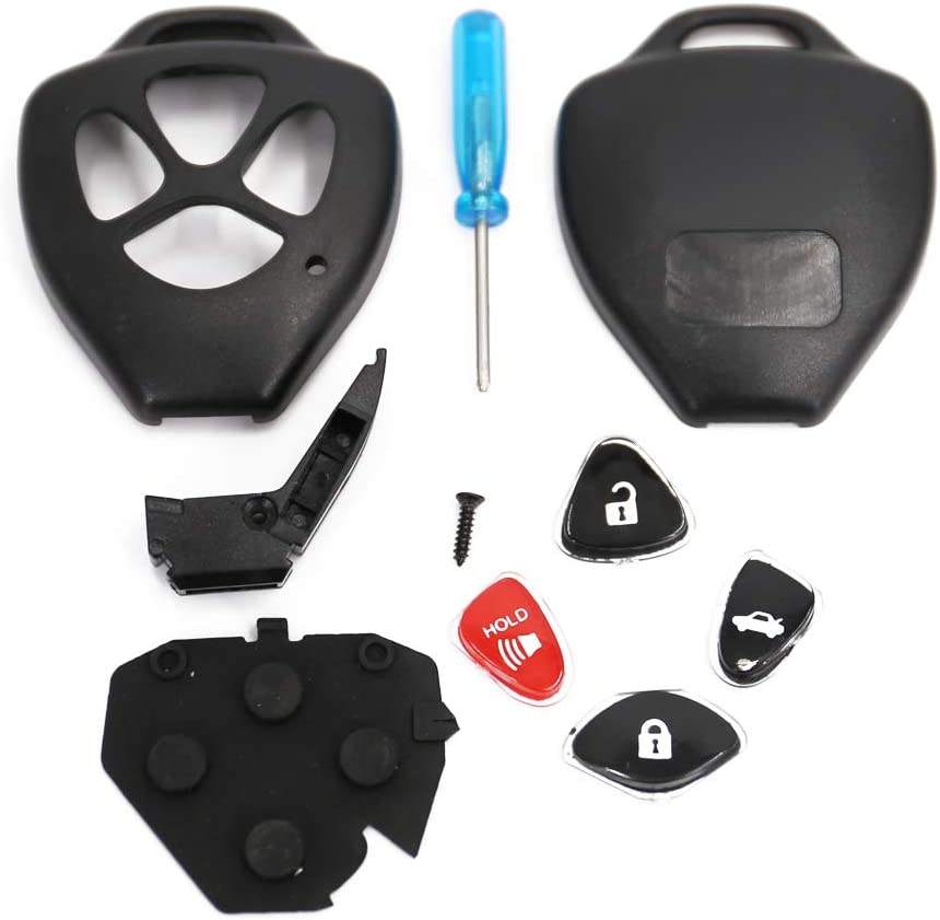 2007-2011 Camry 2009-2014 Venza 1 Pack UTSAUTO Key Fob Shell Case /& Pad Cover Housing HYQ12BBY GQ4-29T Fits for Toyota 2008-2013 Avalon 2008-2013 Corolla Only Casing