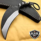 New Hand Made Forged Railroad Spike Karambit Carbon Steel Fixed Blade Hunting EcoGift Nice Knife with Sharp Blade- Great For Fun And Practical Use