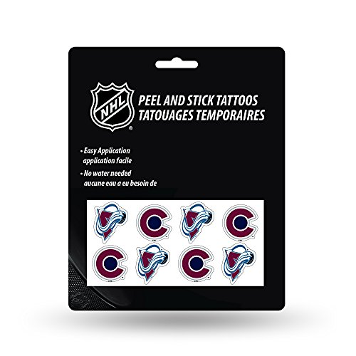 Rico Industries NHL Colorado Avalanche Face Tattoos, 8-Piece Set