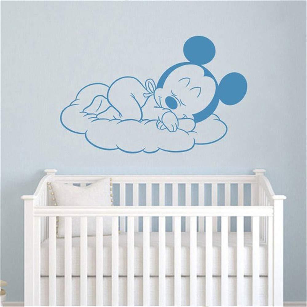 Pegatinas De Pared Baby Nursery Decal Cartoon Sleeping Mickey ...