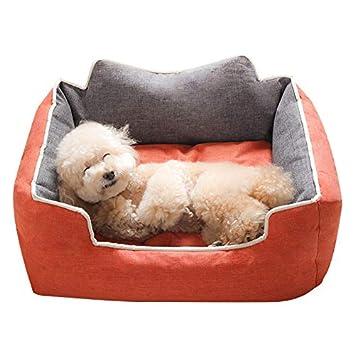 YSDTLX Cama para Perro Perrera Extraíble Y Lavable De La Cama del Perro Pequeña Mascota Suministros Cuatro Temporadas Universales, Naranja, 90 * 68 * 26Cm: ...