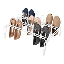 Whitmor 6780-5440-WHT Pair Floor Shoe Rack, White