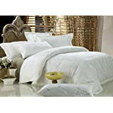 Dolce Mela DM446K Antoinette 6-Piece Percale Jacquard Cotton Duvet Cover Set, King