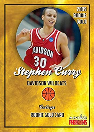 Stephen Curry Rare 2009 Davidson Wildcats First Rookie Card Gold