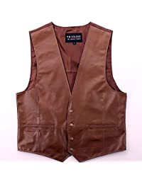leather Vest Classic Western Cowboy mens Motorcycle Environmental protection new